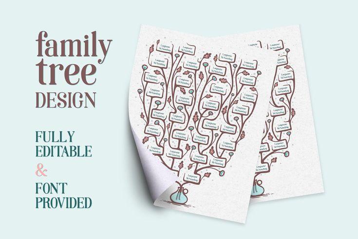Family Tree Design by mky on @creativemarket