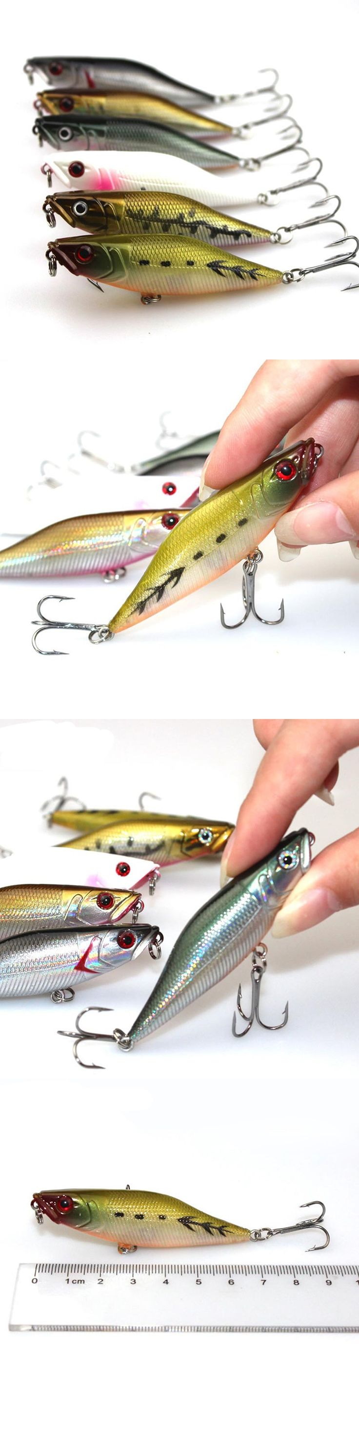 1PCS 7cm 7.2g Fishing Lure Fishing Tackle Wobbler Topwater Hard Bait Pencil Lure Carp Fishing Catfish Isca Artificial Bait PO001