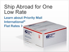 Ship Abroad for One Low Rate. Learn about Priority Mail International Flat Rates. Image of a Priority Mail shipping box >