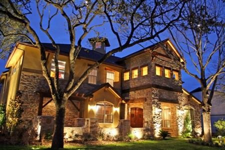 NightScenes: Extreme Makeover: Home Edition - architectural and landscape lighting for the O'Donnell Home in Austin, Texas.