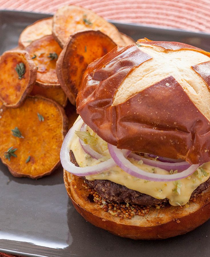 In this sophisticated take on the classic burger, you'll use hops flowers to create a unique, flavorful cheese sauce.