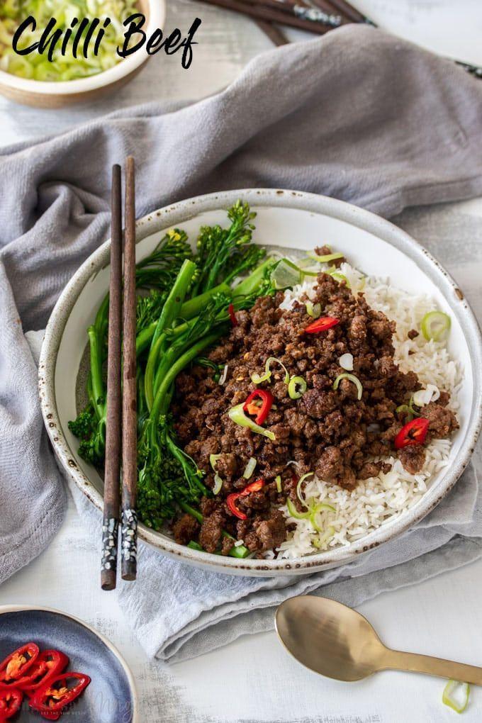 Crispy Asian Chilli Beef Mince Recipe Healthy Beef Recipes Mince Recipes Dinner Minced Beef Recipes
