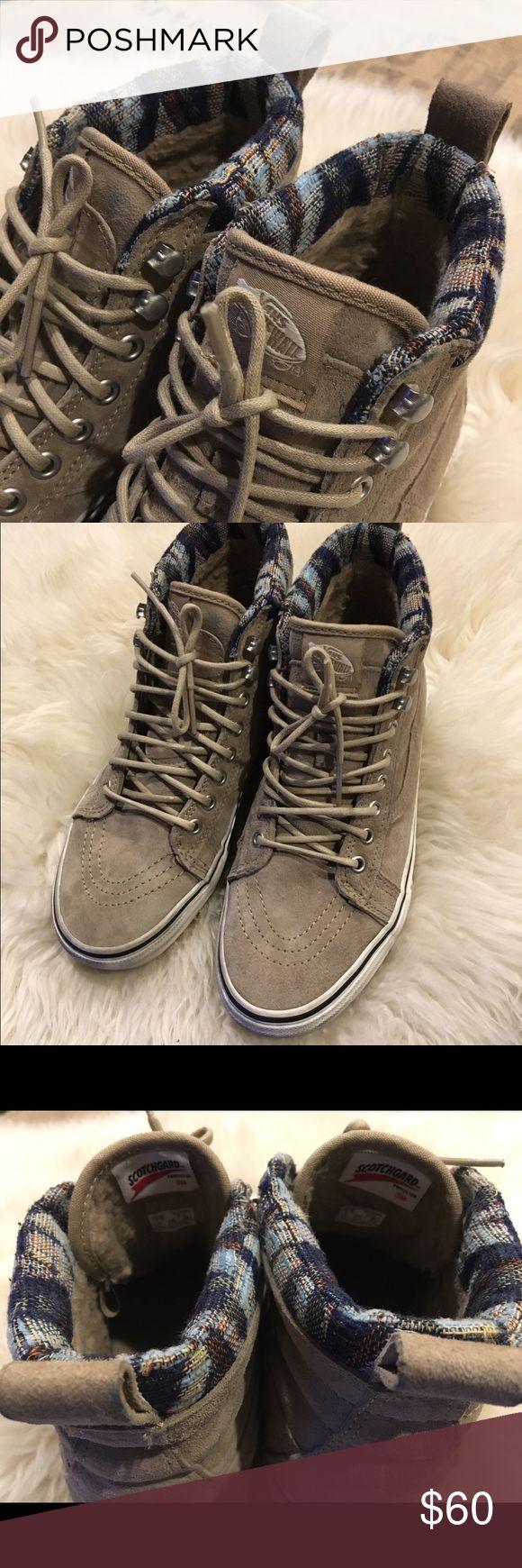 - SCOTCH GUARD SK8 HI VANS - - Weatherized - Rare Vans - Hi Top - Worn Twice- Like New - Vans Shoes Sneakers