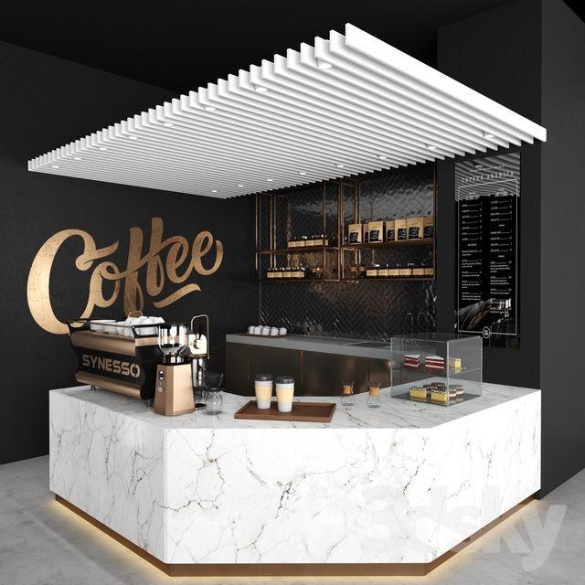 3d models Restaurant Coffee shop 03 Coffee shop decor