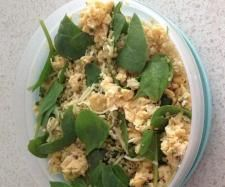 Coconut, curry quinoa, egg and spinach mix | Official Thermomix Recipe Community