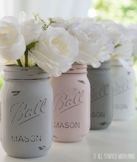 painted-distressed-mason-jars-pink-grey-chalk-paint (9 of 21) 2