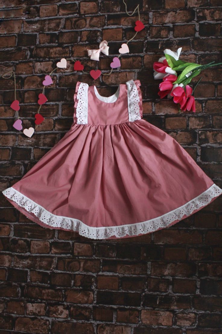Excited to share the latest addition to my #etsy shop: Pink Girls Valentines Day Dress   Valentines Dress   Girls Dress   Pink and Eyelet Lace Dress   Handmade Dress   Valentines   Dress http://etsy.me/2DKfTTt #clothing #children #dress #pink #valentinesday #eyeletlace