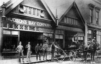 Hudson's Bay Company on Cordova Street 1890.