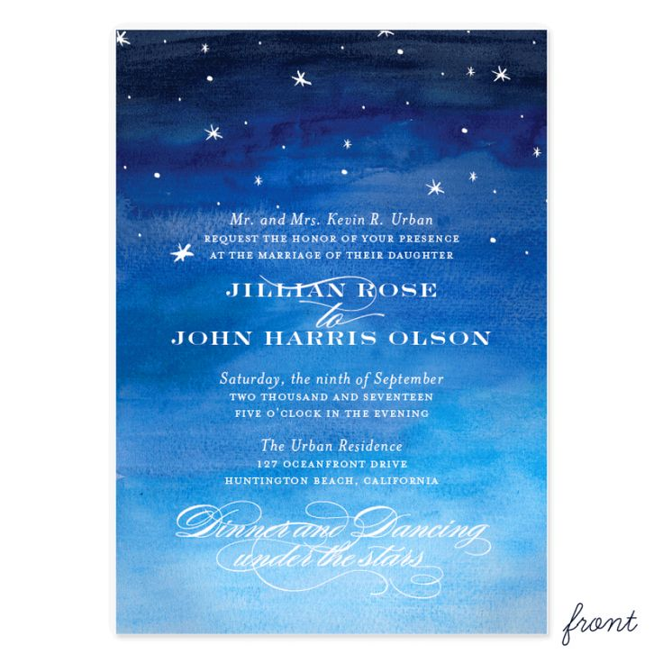 Exelent Night Time Wedding Invitations Crest - Invitation Card Ideas ...