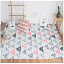 Stile nordico carino rosa e grigio triangoli tappeto, 200