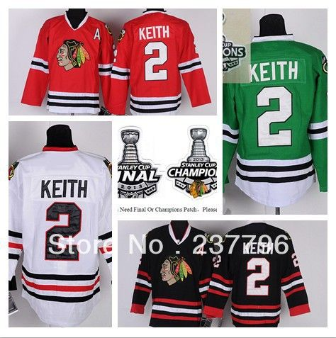 cheap nhl duncan keith jersey 2 chicago blackhawks ice hockey jerseys finals champions red black
