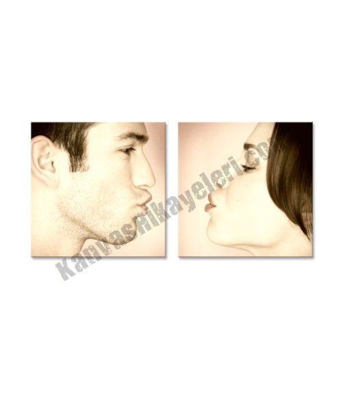 2 Parçalı Öpücük Kanvas Tablo  Resimleriniz, özel efektler verilerek düzenlenir. 2 parçadan oluşmaktadır. www.kanvashikayeleri.com #dogumgunu #sevgili #sevgiliyehediye #kanvastablo #canvastablo #kanvashikayeleri #hediye