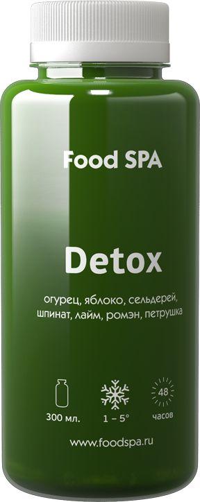 Detox – огурец, яблоко, сельдерей, шпинат, лайм, ромэн, петрушка Силу грин…