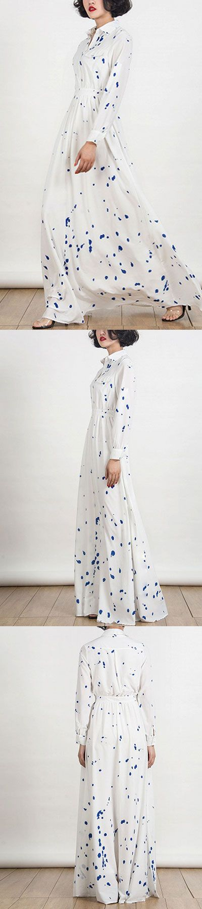 "pop white maxi dress still in style - spring dresses on sale today! 60% off in choies.com   exclusive code here ""pin10off""  to save 10% more for order value over $45."