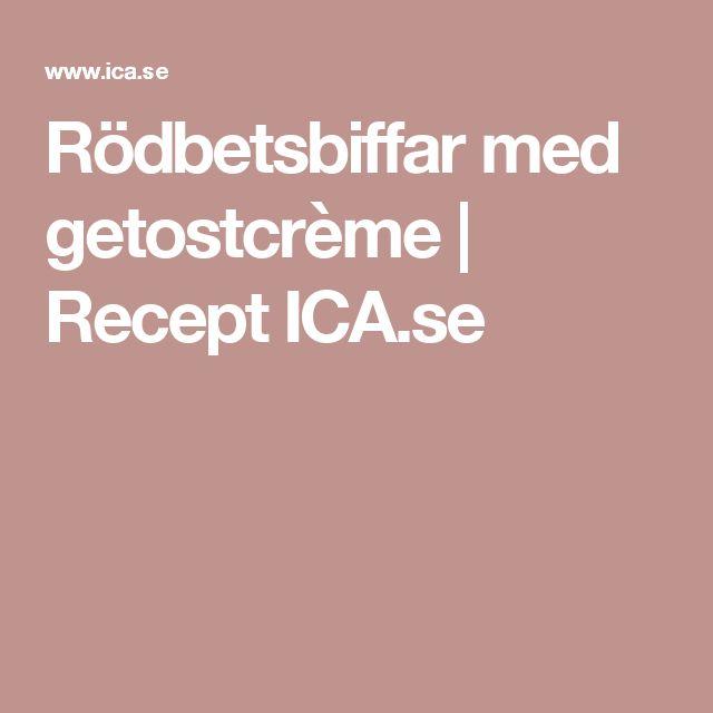 Rödbetsbiffar med getostcrème   Recept ICA.se