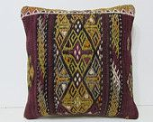 "embroidered pillow 18"" sofa throw pillow living room decoration kilim fabric easter pillow floor pillow case country pillow ethnic rug 28018"
