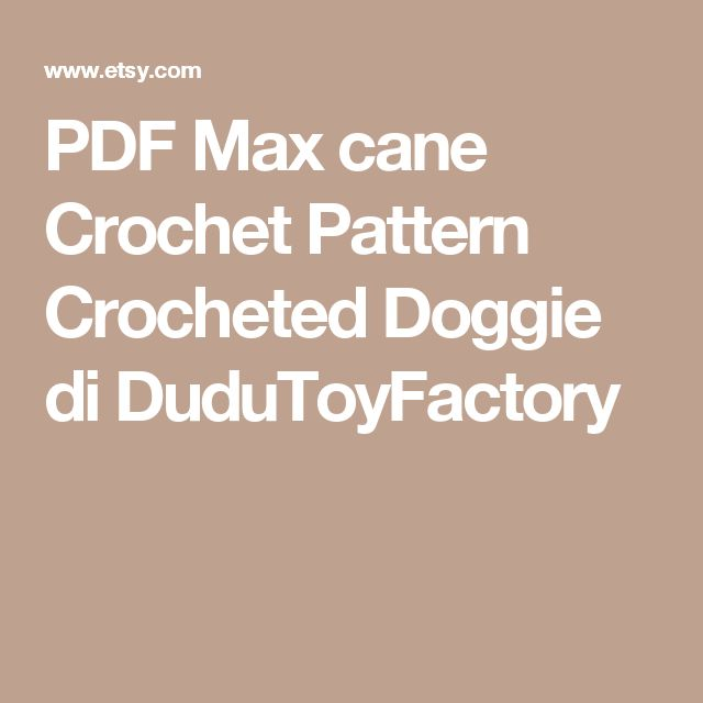 PDF Max cane Crochet Pattern Crocheted Doggie di DuduToyFactory