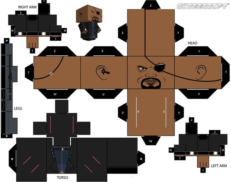 Nick Fury cubeecraft 2.0 by briciocl.deviantart.com on @deviantART