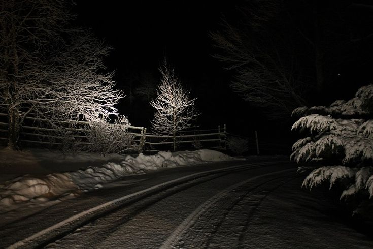 For Night Photos, Use Your Headlights