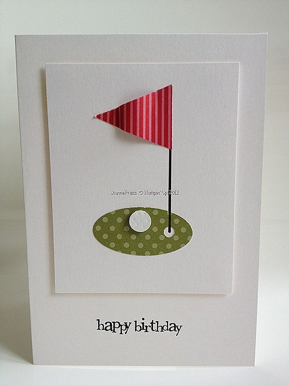 Need to make for Mr. T!  :)  Golf card clean and simple || by Joanne at Stampin' Up! My Way
