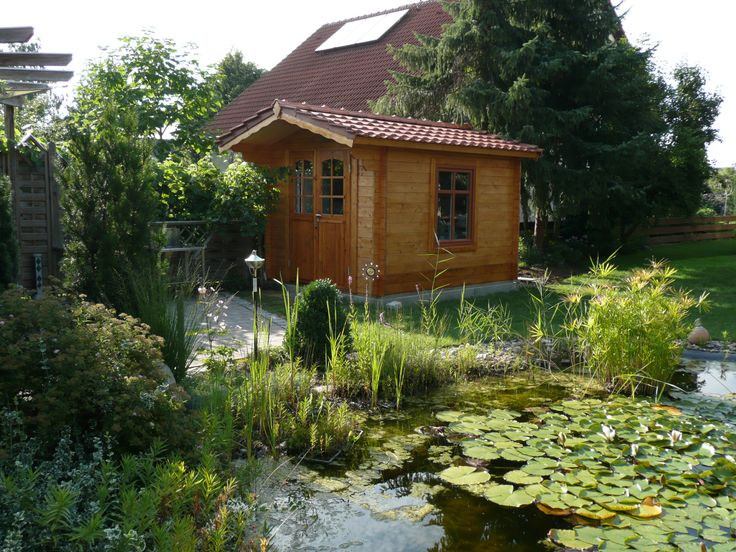 17 best images about gartenhaus und teich on pinterest. Black Bedroom Furniture Sets. Home Design Ideas