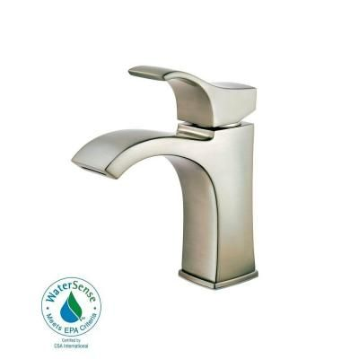 Pfister Venturi Single Hole Single-Handle Bathroom Faucet in Brushed Nickel-F-042-VNKK - The Home Depot