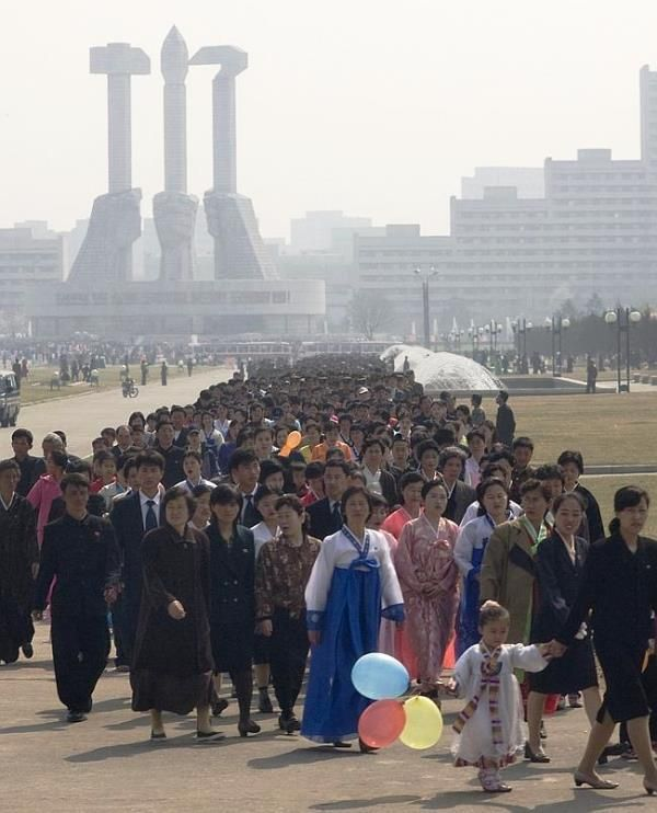 Holidays in North Korea are a little different than most, as citizens are 'asked' to pay homage to the great leader at various monuments. The resulting lines can last several miles. (V)