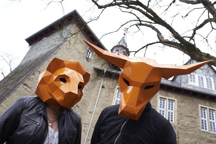 masken, orange, shooting, werbeagentur [raster]fabrik gmbh,  stier, löwe, park, siegen, schloss