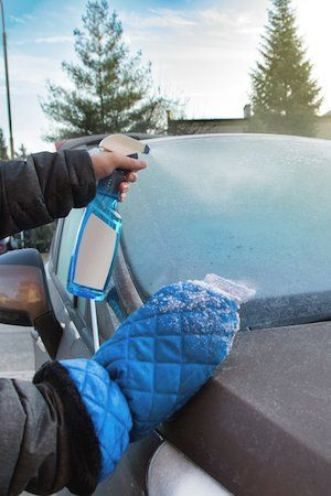 Spend less time in the cold cleaning your car with this easy, two-ingredient recipe for homemade de-icer spray.