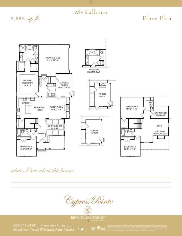 45 Best Cape Fear National Floor Plans Images On Pinterest