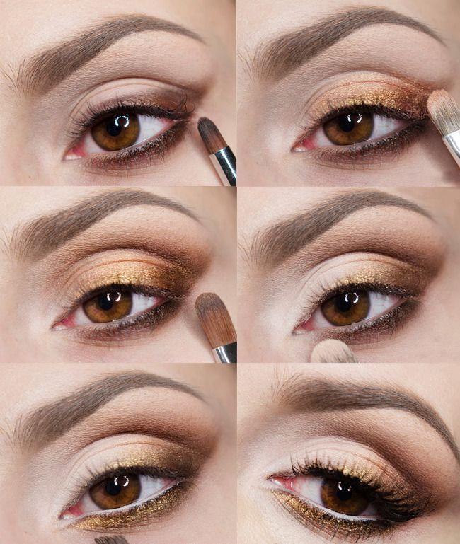 Офисный стиль: золотой макияж (видео)