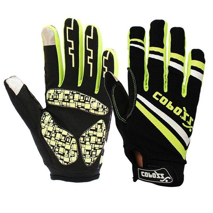 Brand Silicone GEL Full Finger Men Winter Warm Cycling Gloves Slip for mtb