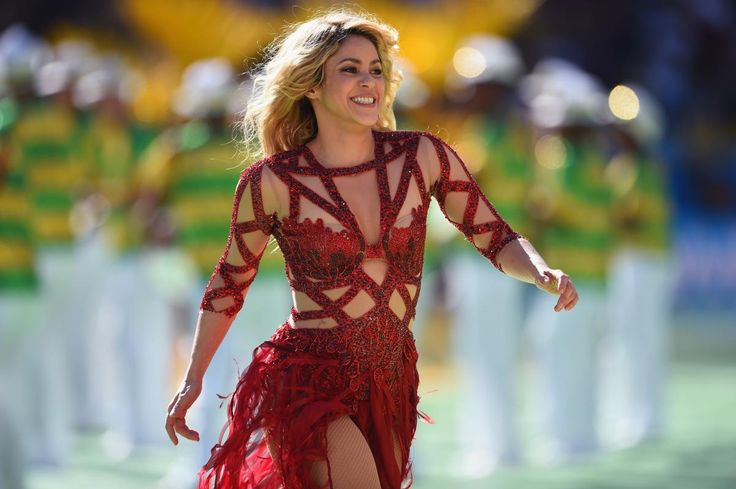 Germany v Argentina: 2014 FIFA World Cup Brazil Final RIO DE JANEIRO, BRAZIL - JULY 13: Singer Shakira performs during the closing ceremony prior to the 2014 FIFA World Cup Brazil Final match between Germany and Argentina at Maracana on July 13, 2014 in Rio de Janeiro, Brazil. (Photo by Matthias Hangst/Getty Images)