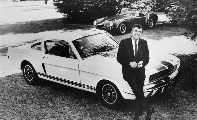 Carroll Shelby and 1966 Mustang GT 350 (Carroll Shelby 1923–2012) #Custom #Ford