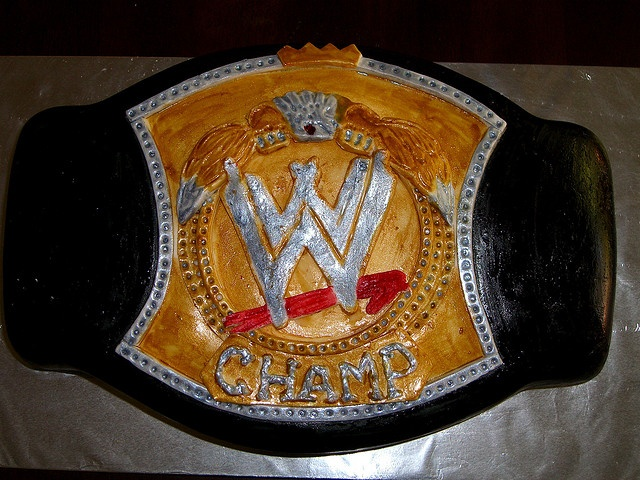 Replica of the WWE Championship belt