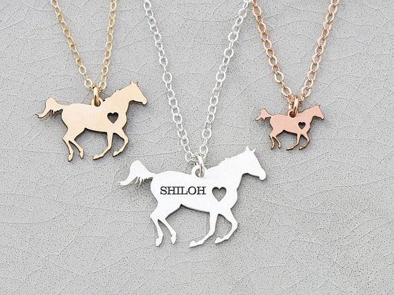 Racing Horse Necklace • Personalized Horse Lover Gift