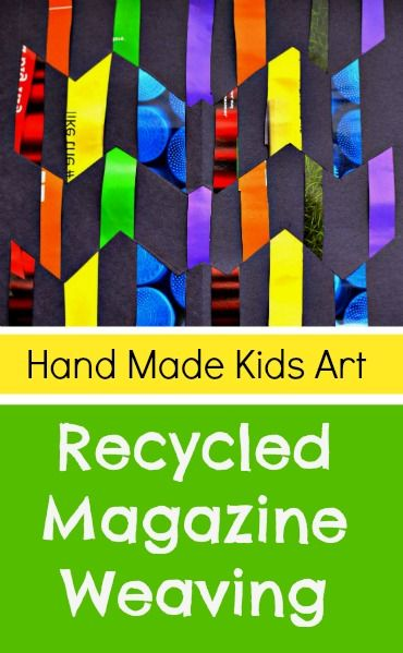 Easy Paper Craft: Recycled Paper Weaving #handmadekidsart #papercraft #recycleart