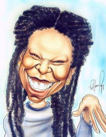 CARICATURES- WOOPI GOLDBERG
