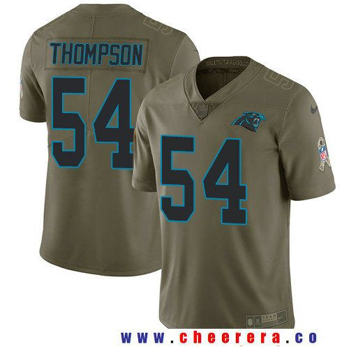 Men's Carolina Panthers #54 Shaq Thompson Olive 2017 Salute To Service Stitched NFL Nike Limited Jersey