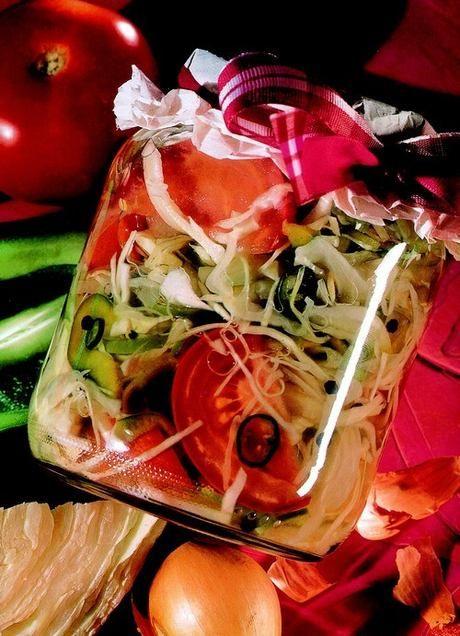 Maďarský zeleninový salát