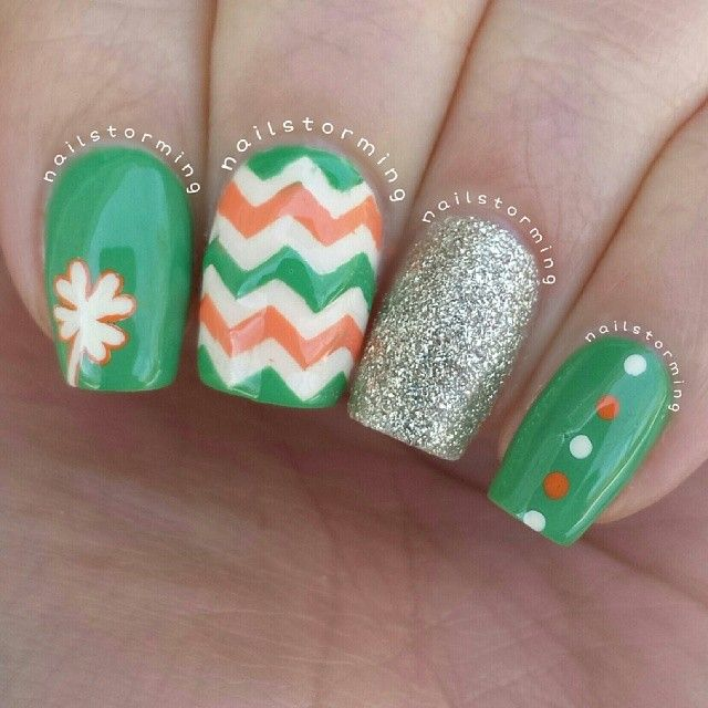 nailstorming st patrick's day #nail #nails #nailart