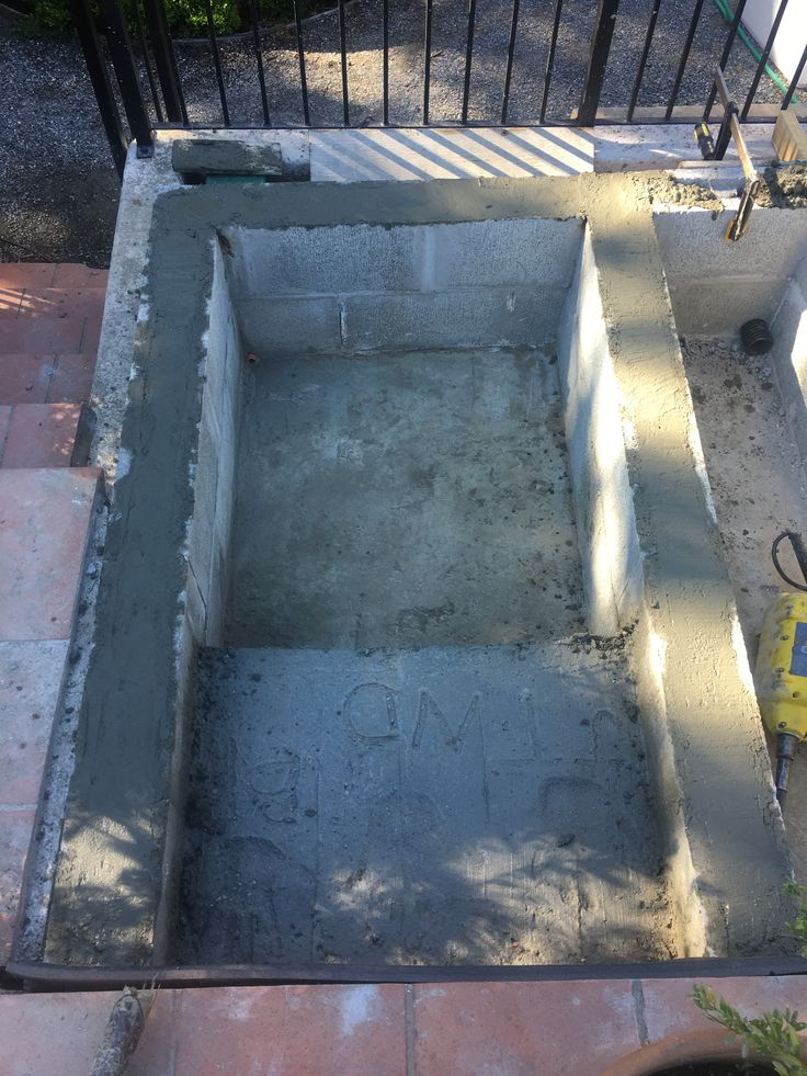 We then core filled the blocks with concrete