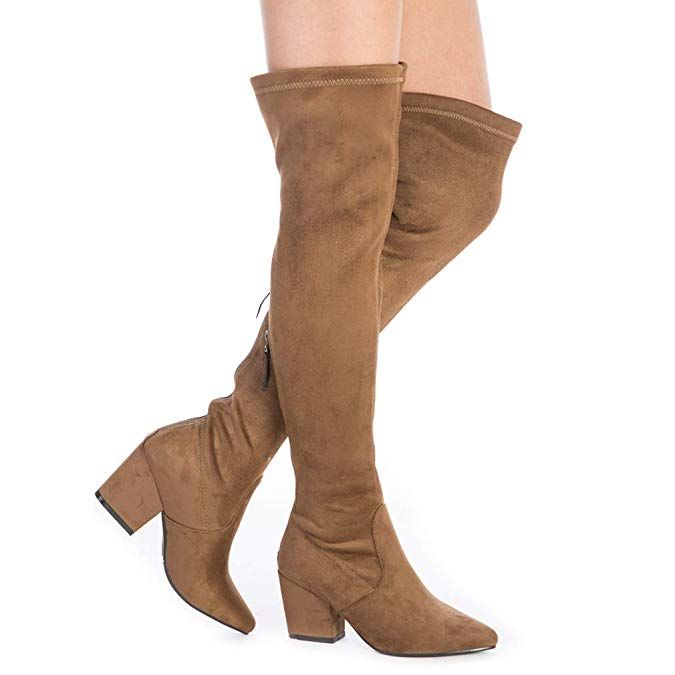 N.N.G Women Boots Winter Over Knee Long Boots Fashion Boots Heels Autumn  Quality Suede Comfort Squar… | Stretch suede boots, Fashion boots heels, Winter  boots women