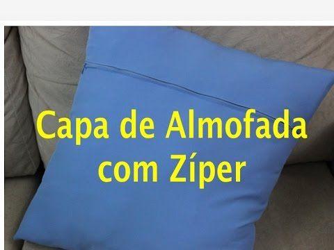 Tutorial de Costura: Capa de Almofada com Zíper - YouTube
