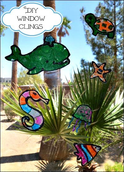 DIY window clings - perfect activity for the summer idea/bucket list!