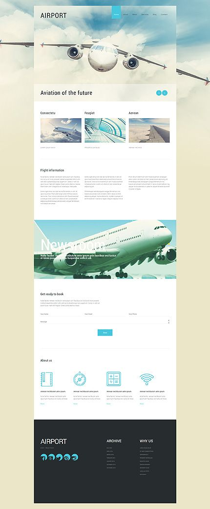 Airport Services Website #Joomla #template. #themes #business #responsive #Joomlathemes