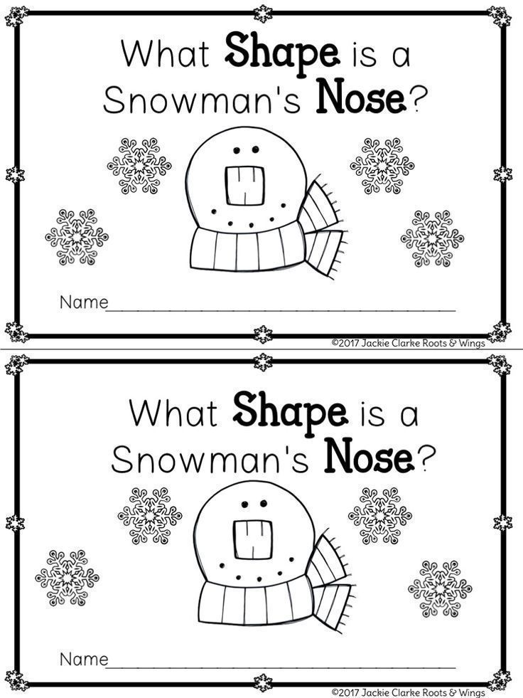 Help the snowman find his carrot nose (a triangle shape) while exploring shape recognition and counting/recording the number of shapes and vertices.