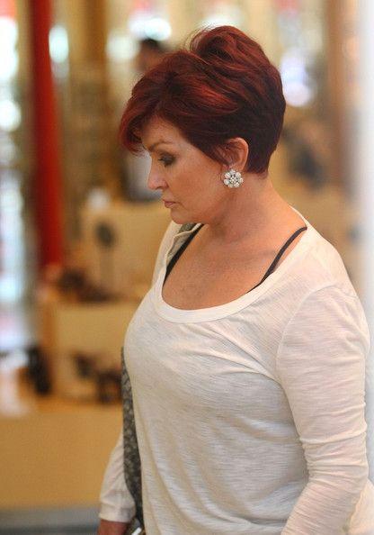 Sharon Osbourne Diamond Studs - Sharon Osbourne Looks - StyleBistro                                                                                                                                                                                 More