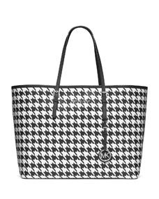 Michael Kors Medium Jet Set Tote in Houndstooth $298