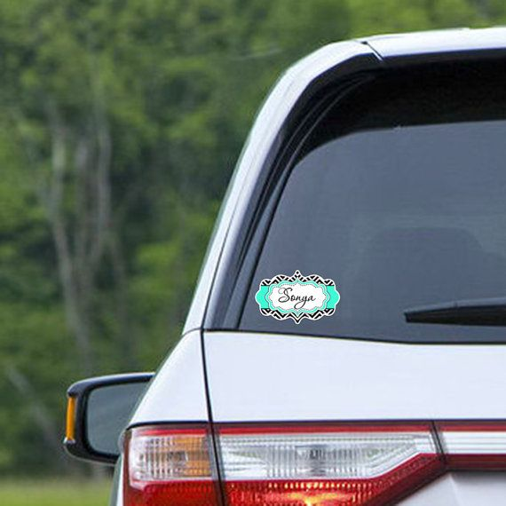 Custom car sticker Monogrammed car window decal by ToGildTheLily